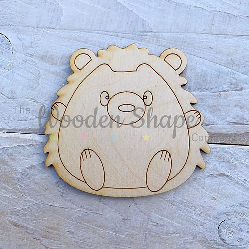 Plywood Hedgehog Hug Shape 10 Pack
