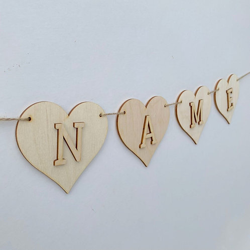 Heart Bunting with Letters
