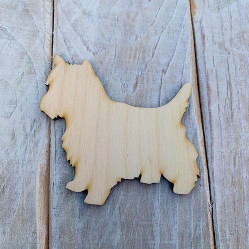 Plywood Yorkie Dog Shape 10 PACK