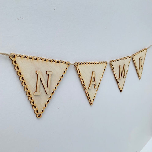 Scallop Bunting with Letters