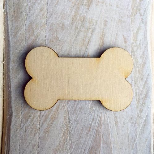 Plywood Dog Bone Craft Shape 10 PACK