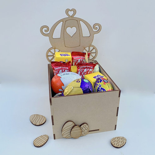 MDF Easter Fillable Treat Box Carriage