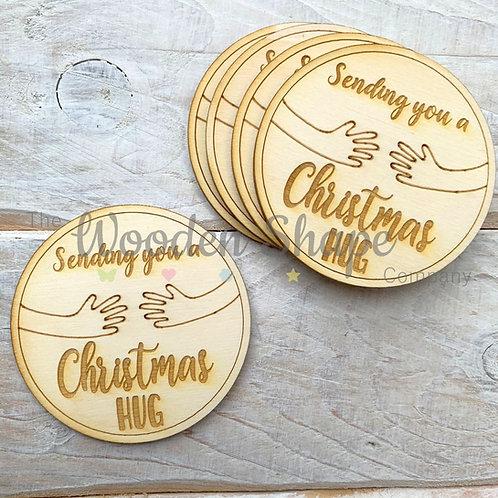 5 Pack Sending you a Christmas Hug Circle