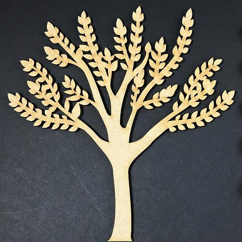 MDF Wooden Tree Code Leaf
