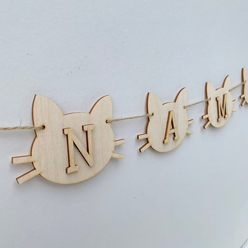 Cat Bunting with Letters