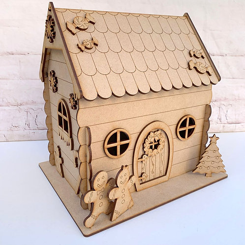 MDF Gingerbread House 3D Kit Christmas House