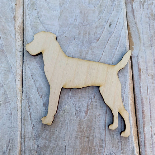 Plywood Rough Coated Parson Jack Russel Dog Shape 10 PACK