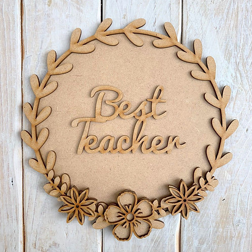 Laurel 2 Layered Hoop Kit Backboard Best Teacher