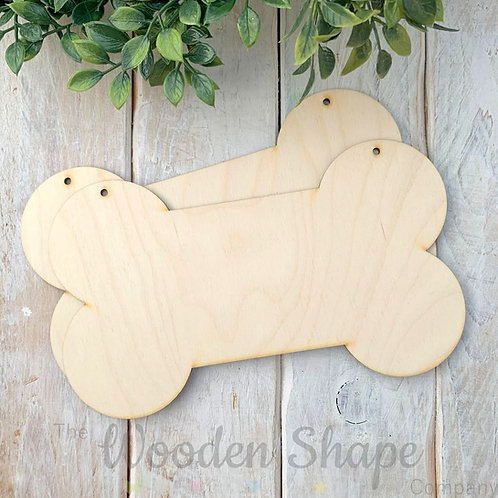2 Pack Birch Plywood Plaque Bone