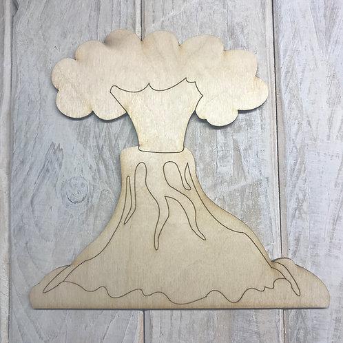 Plywood Volcano 15cm