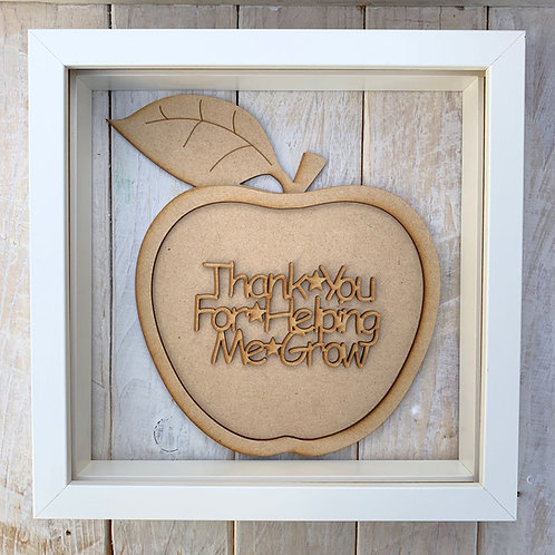 Layered Apple Plaque Frame Thank You Helping Me Grow