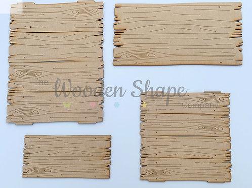 MDF Log Plank Plaque Set of 4