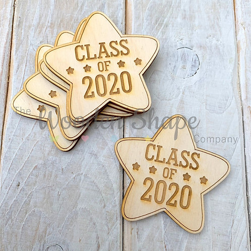 5 Pack Engraved Card Sentiment Star Class of 202