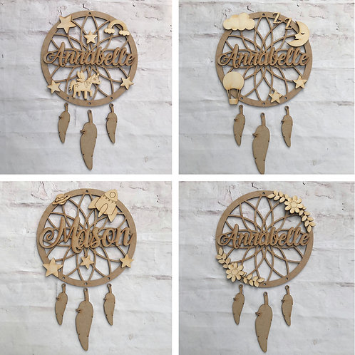 Dream Catcher with Name & Themed Embellishments