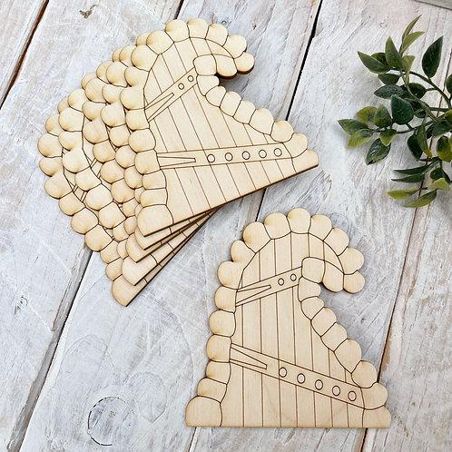 6 Pack Plywood Fairy Doors Code Flat W