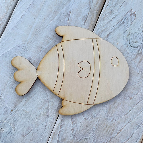Plywood Fish A 10 Pack