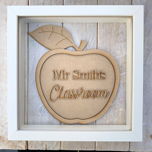 Layered Apple Plaque Frame Classroom
