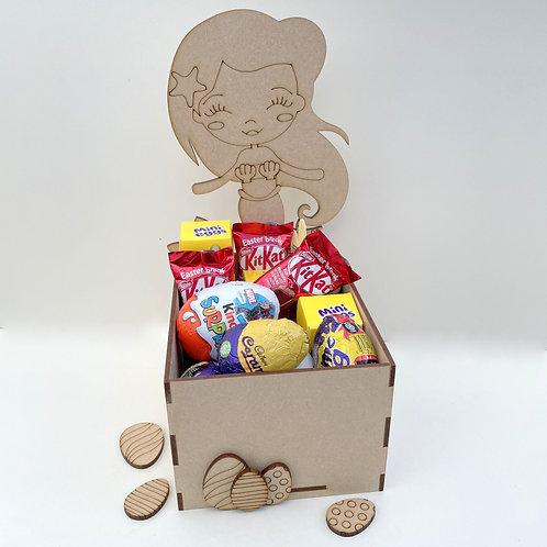 MDF Easter Fillable Treat Box Mermaid