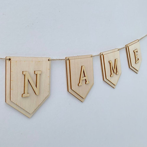 Plywood Layered Pendant P Bunting