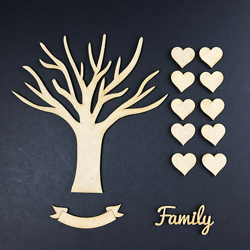 MDF Wooden Tree Code Branch Kit