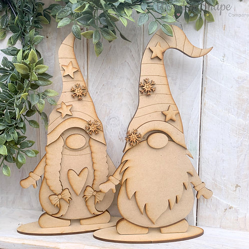MDF Freestanding Nordic Gnome Girl or Boy