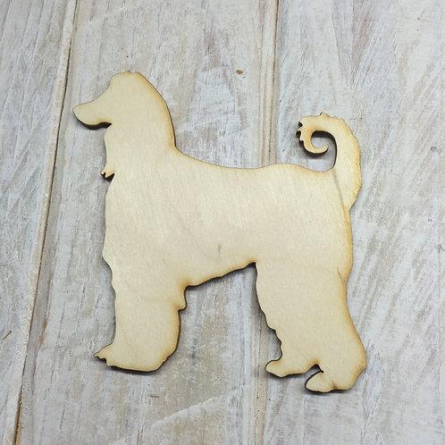 Plywood Afghan Hound Dog Shape 10 PACK