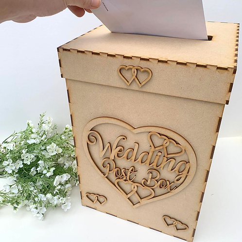 Build Your Own Wedding Post Box Heart WA