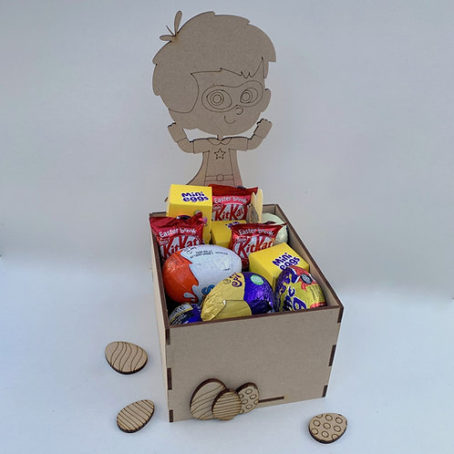 MDF Easter Fillable Treat Box Super Boy