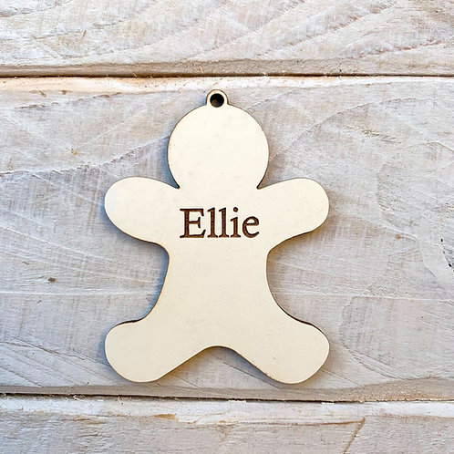 6.5cm Engraved Stone White Gingerbread with Hole