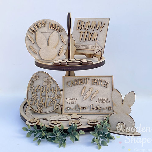 Easter Theme Tiered Tray Kit