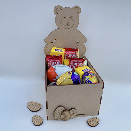 MDF Easter Fillable Treat Box Teddy