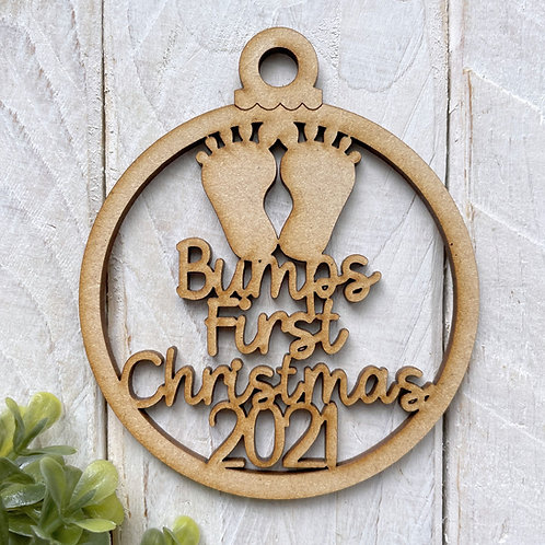 MDF Bauble Bumps First Christmas 2021