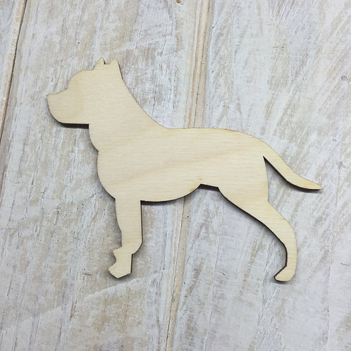 Plywood Staffie Dog Shape 10 PACK