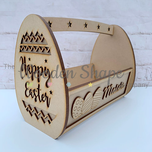 MDF Flat Pack Easter Basket Kit
