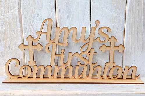 First Communion Sign with Stand