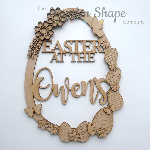 MDF Large Easter Wreath Easter at the