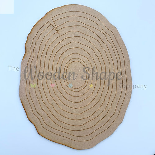 MDF Log Slice Plaque Different Sizes Available