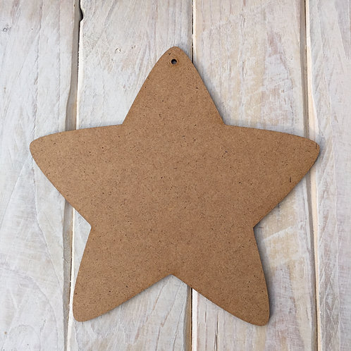 MDF Star Shape Plaque Blank