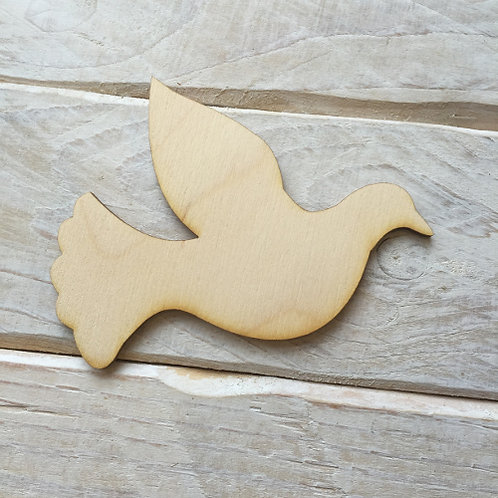 Plywood DOVE Shape 10 PACK