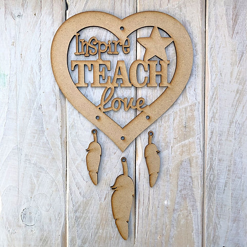 Dream Catcher Heart Inspire Teach Love
