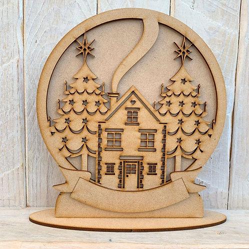 Freestanding Snow Globe House