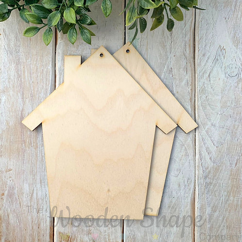 2 Pack Birch Plywood Plaque House