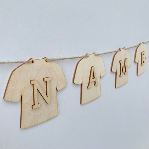 Jersey Bunting with Letters
