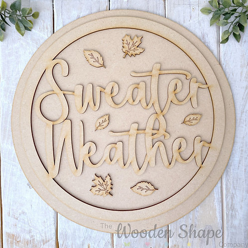 30cm MDF Sign Kit Sweater Weather CP