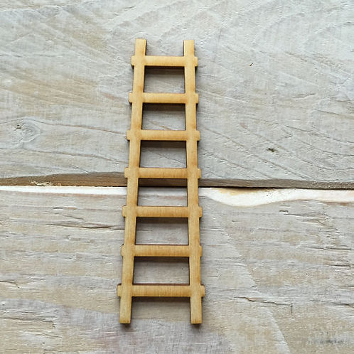 6 Pack Wooden Fairy Ladder Angled Design
