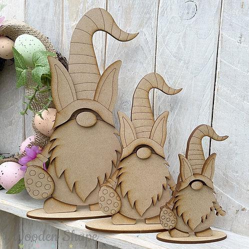 MDF Freestanding Easter Gnome Bunny Ears Gonk Boy Girl Various Sizes
