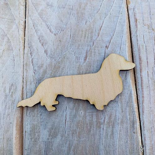 Plywood Long Hair Sausage Dog Shape 10 PACK