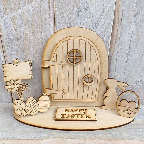 Opening Stand Fairy Door Happy Easter