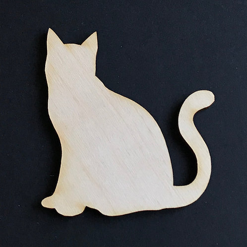 Plywood 10 Pack Shape Cat Sitting
