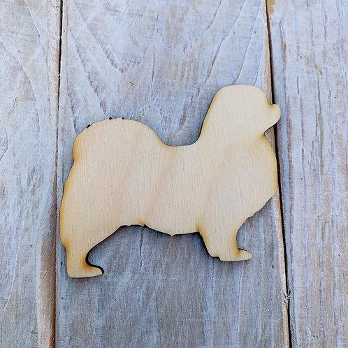 Plywood Tebetian Spaniel Dog Shape 10 PACK